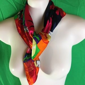 Kenneth Cole SILK Square scarf New York theme